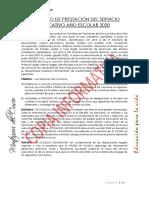 contrato de prestacion de servicio educativo año escolar 2020