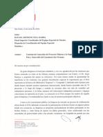 Carta de Odebrecht dirigida al fiscal Rafael Vela