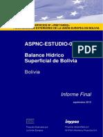 Balance hidrico superficial de Bolivia 2012Inypsa.pdf