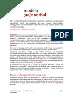 metamodelo del lenguaje verbal