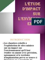 L'étude d'impact sur  l'environnement