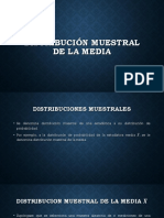 DISTRIBUCIÓN MUESTRAL DE LA MEDIA