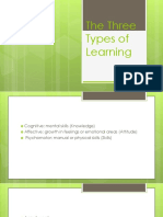 The Three Types of Learning