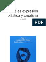 ¿Qué es expresión plástica y creativa?
