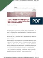 Altcoins ICOs e a digitalização do mercado de capitais.pdf