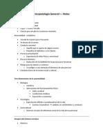 Psicopatología General I - Notas