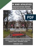 Athletics Funding FO Report