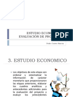 Estudio economico y evaluacion de proyectos