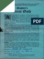 Neophyte's Great Oath (1957)