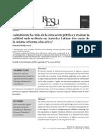 ADMINISTRAR LA CRISIS DE LA EDUCACIÓN PÚBLICA