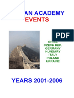 Yiquan Academy events 2001-2006