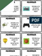 2.Hobbies Conversation Cards 4 per page