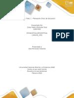 Unidad 1 Paso 1 - Planeación Foro de discusión