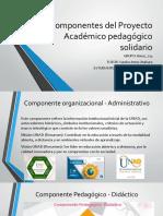 Componentes del Proyecto Académico pedagógico solidario