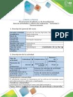 Guía de actividades y rúbrica de evaluación- Actividad 1-  Reconocimiento - Horticultura