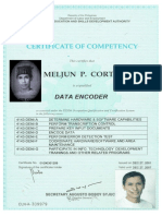 TESDA License NC I Data Encoder