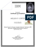 IBM Training Certificate Descriptive Analytics