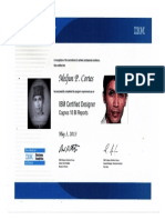 IBM COGNOS Certified