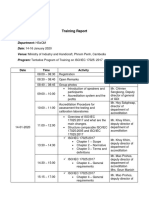 Training Report on ISO17025