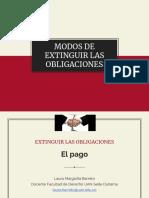 Extinción de las Obligaciones EL pago