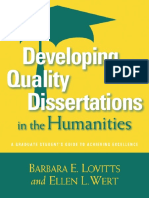 Developing Quality Dissertations in the Humanities_ A Graduate Student's Guide to Achieving Excellence ( PDFDrive.com ).pdf