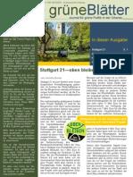 grüneBlätter Nr. 4 November 2010