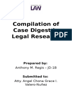 Compilation of Case Digest in Legal Research Front page.docx