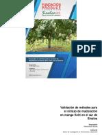 Validación de métodos para el retraso de maduración en mango Keitt en el sur de Sinaloa