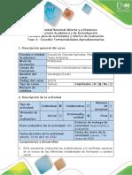 Guía de actividades y rúbrica de evaluación - Fase 4 - Concebir Territorialidades Agroalimentarias