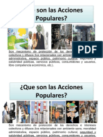 10.- LAS ACCIONES POPULARES -A)