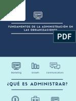 La Administración en Las Organizaciones