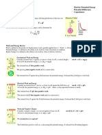 Electric Potential & Capacitance Summary Notes