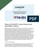Control Hazard and Operability Analysis