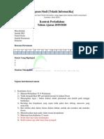 Format Kontrak Kuliah