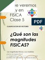 FISICA Introduccion a la Fisica Clase 5 Escalares y Vectoriales