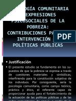 Psicología comunitaria y expresiones psicosociales de la pobreza