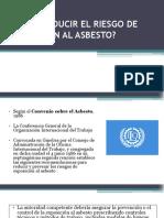CÓMO REDUCIR EL RIESGO DE EXPOSICIÓN AL asbesto HAROLD ALVAREZ