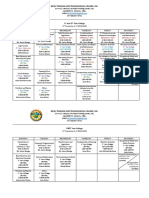 College-2nd Sem Schedule A.Y 2019-2020