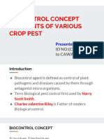 BIOCONTROL CONCEPT  BIOAGENTS OF VARIOUS CROP PEST