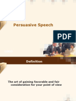 Persuasive speech MISB