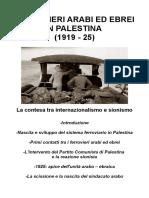 Ferrovieri Arabi Ed Ebrei in Palestina (1919 - 25)