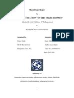 BBA Major Project Report Flipkart