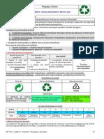 BTS CPI2 Ch 7 Polymères - Valorisation et recyclage