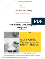 FSCM- S_4 HANA Credit Management Configuration_