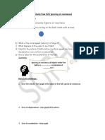 AS Physics free fall worksheet