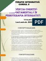 INTERVENȚIA COGNITIV-COMPORTAMENTALĂ ÎN PSIHOTERAPIA INTEGRATIVĂ