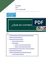 Artículo de Comercio y Aduanas