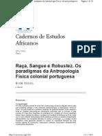 Raça Sangue e Robustez_Os paradigmas da Antropologia Física colonial portuguesa