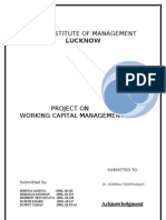 Project on Working Capital Management