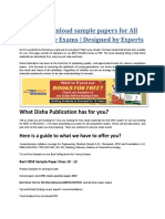 Free Download Sample Papers for All Competitive Exams